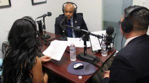 Mayor Hancock in the Educa radio station