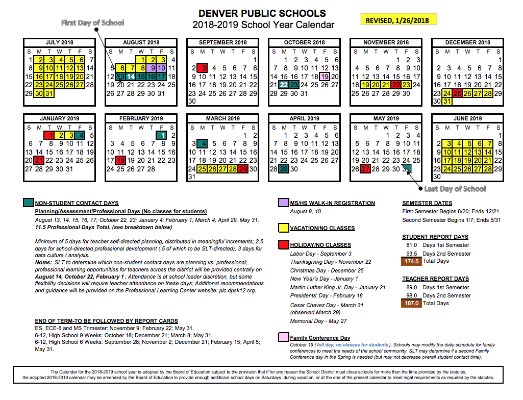 Denver Public School Calendar 2019 Summer Break | Denver Public Schools