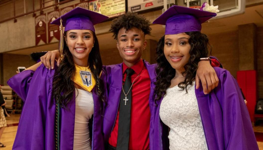Students from North High School graduation