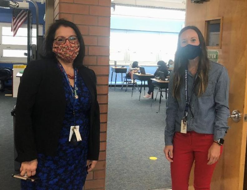 Susana with Lacey Dennis at Columbine Elementary