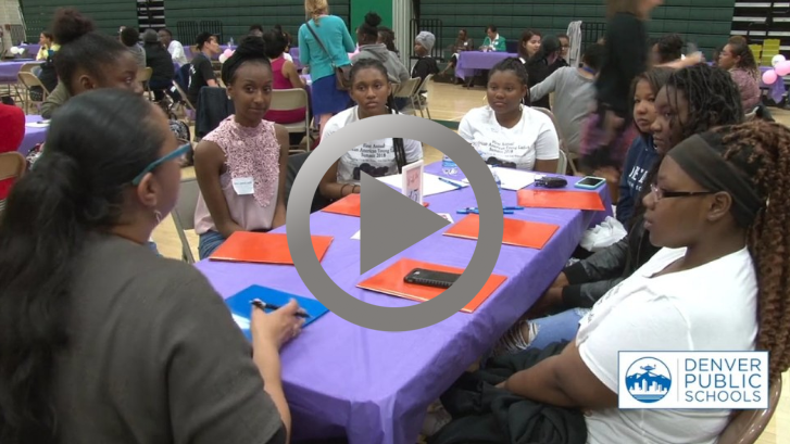 Students attend the African-American Young Ladies Summit
