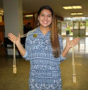DCIS senior Sofia Romero-Campbell received two Seals of Biliteracy for proficiency in Spanish and Mandarin Chinese.