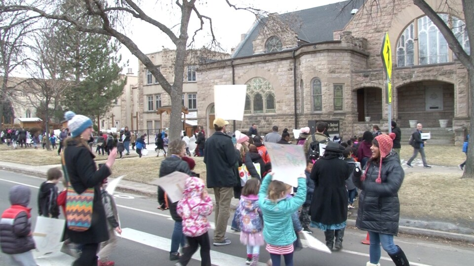 Students and community march in Park Hill Marade