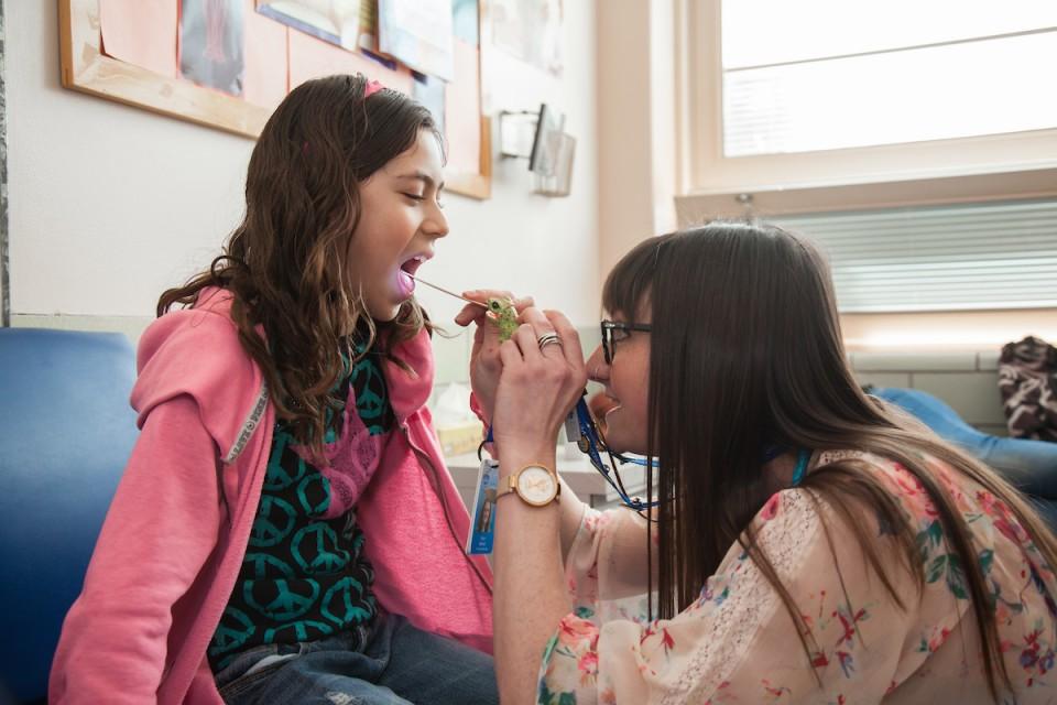 nurse and student