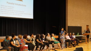 Community professionals attended the 2019 African-American young ladies summit.