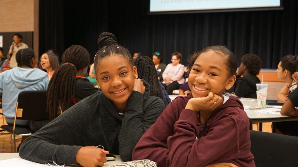 Students attended the 2019 African-American young ladies summit.