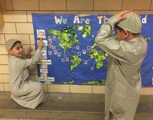 Students celebrate multiculturalism during Ellis' fair.