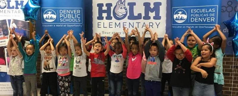 Holm Elementary Students