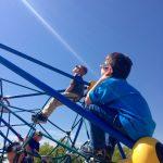 Students at Newlon Elementary enjoy the solar eclipse.