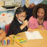 Students are excited to learn on the first day of school at Castro Elementary.