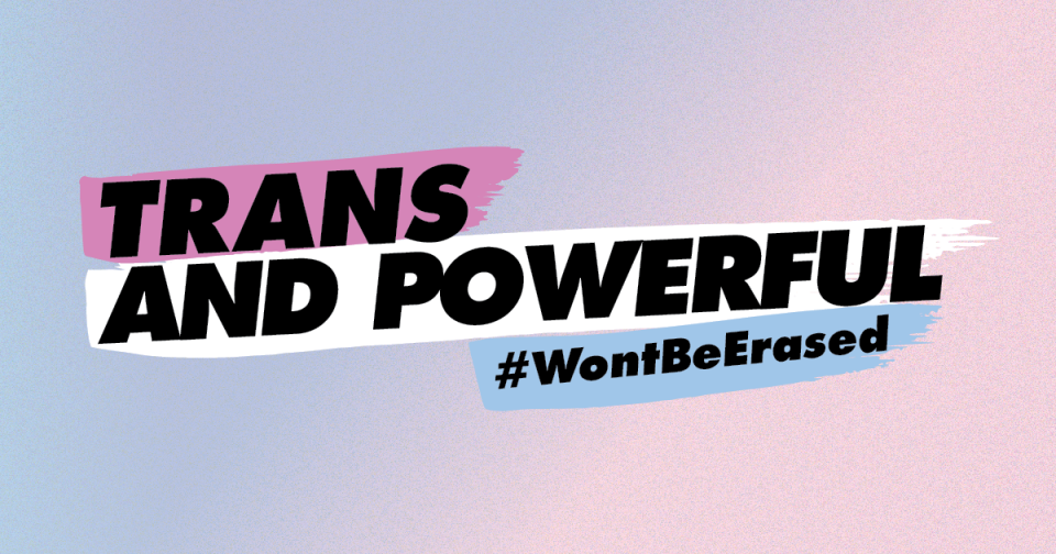 Trans and powerful, won't be erased
