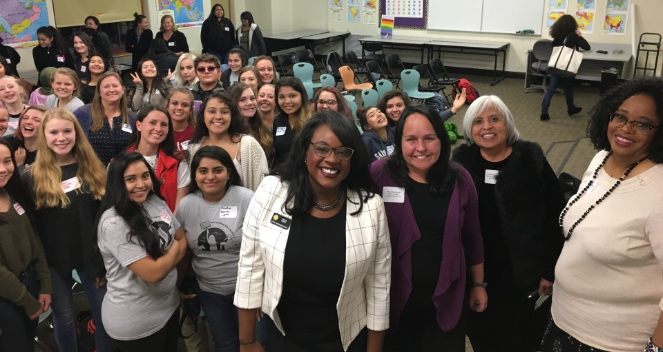 Female political leaders across Colorado unite to share career advice with 100 DPS students.