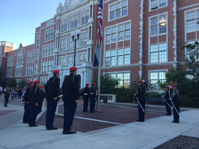 JROTC Cadets raise the flag