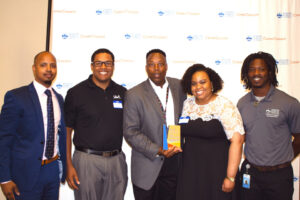 """DPS CareerConnect team members awarded United Launch Alliance with a """"Partner of the Year"""" award."""