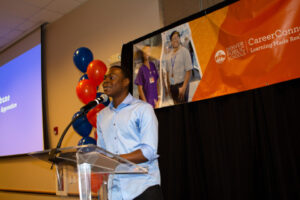 DPS student and CareerConnect apprentice Chigo Egbune spoke about the personal value the program has brought to his life and career goals.