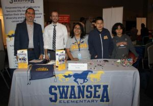 Staff and students from Swansea Elementary met with prospective families at last year's Great Schools Expo.