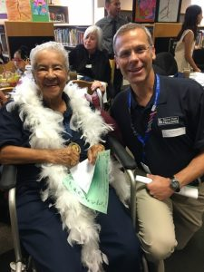 DPS pioneer Marie L. Greenwood and Supt. Tom Boasberg