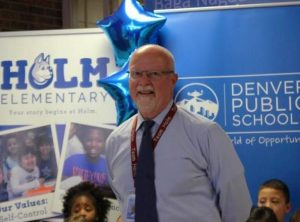 Jim Metcalfe has led Holm Elementary for 23 years, the longest of any DPS principal.