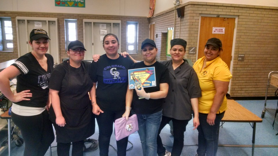 Food service workers nominate for the School Lunch Super Hero award