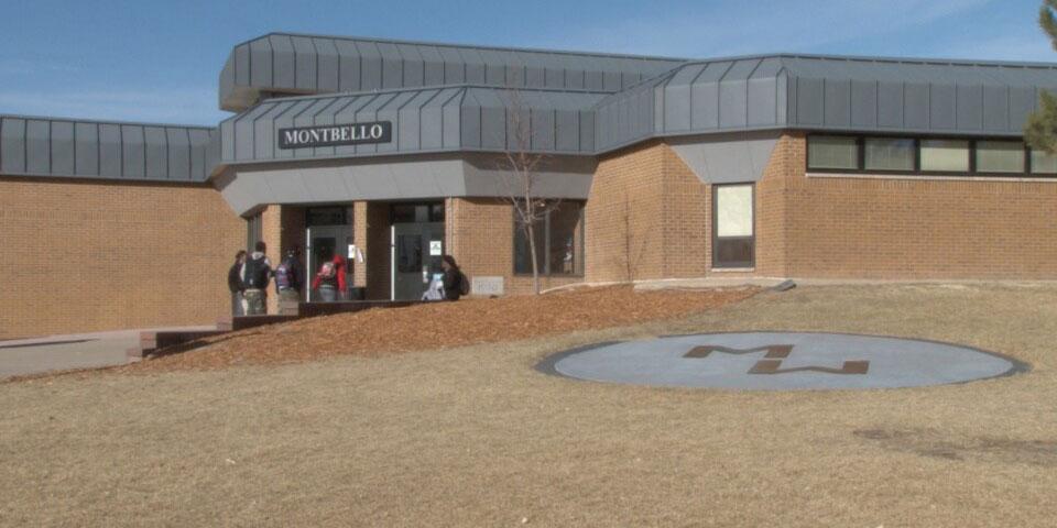 Exterior photo of Montbello Campus, as seen in 2014