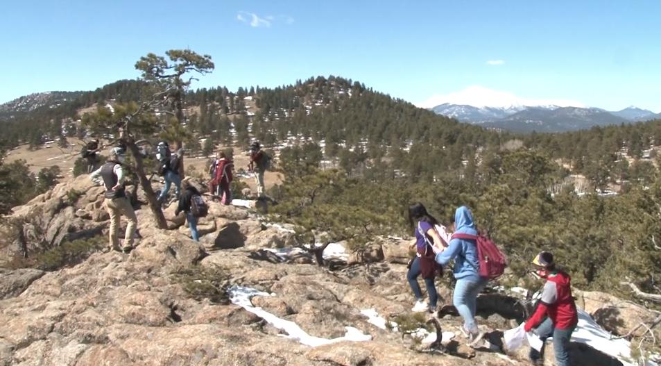 Students hiking at Balarat