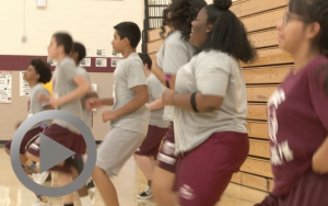 P.E. teacher Brian Hull uses technology to show students an easy way to embrace exercise.