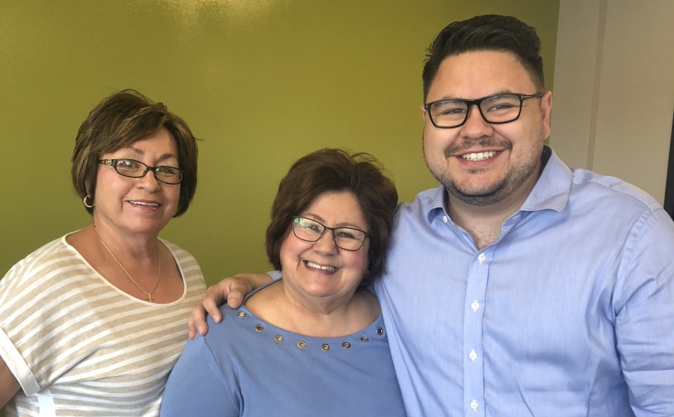 Wall Street Journal deputy editor Robert Barba and his mother and aunt.
