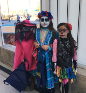 Students from Swansea Elementary in their Halloween costumes.