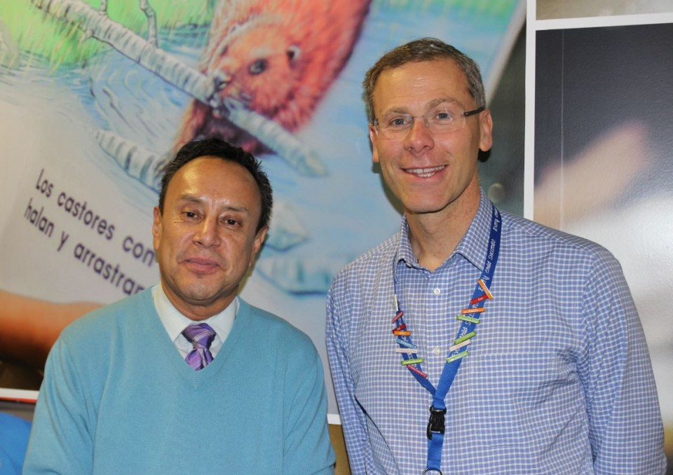 Denver Public Schools Superintendent Tom Boasberg (right) pictured with Acting Mexican General Consul Jeremias Guzman
