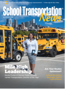 Nicole Portee on the November cover of School Transportation News