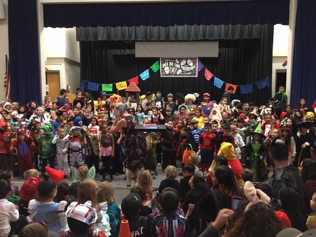 Students at Escuela Valdez celebrate Dia de los Muertos (Day of the Dead)