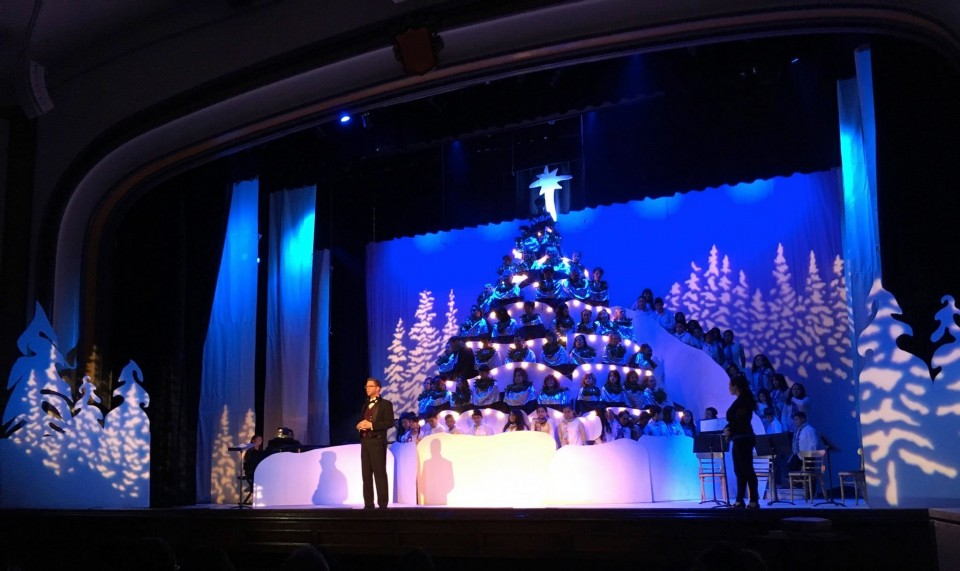 West Campus Singing Christmas Tree