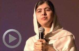 Malala Yousafzai speaks to DPS students