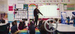 teacher leading classroom